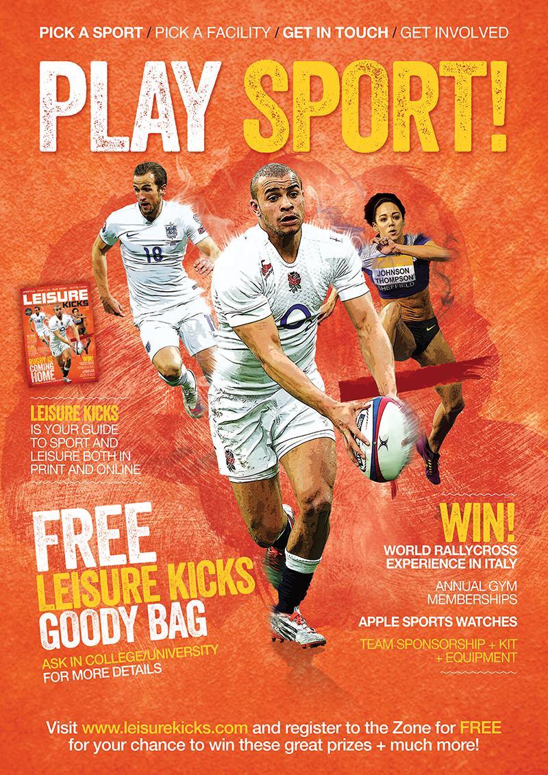 leisure kicks poster sports design promotion surface creative